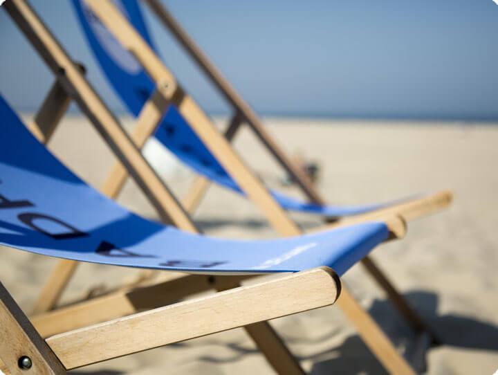 Strandstoel als favoriete eyecatcher