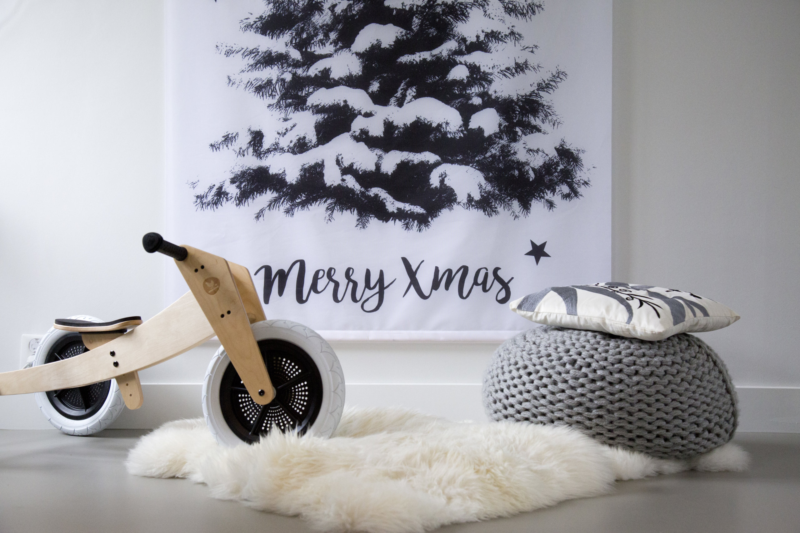 Kerstboom op doek; uniek alternatief voor de traditionele kerstboom