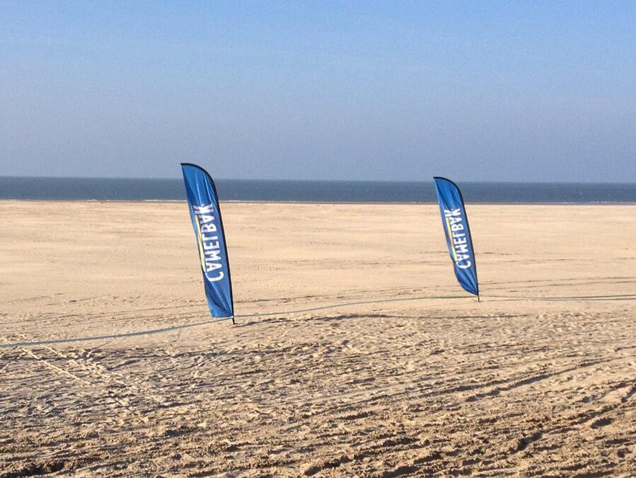 Beachflags: Kies de vorm die bij je past!